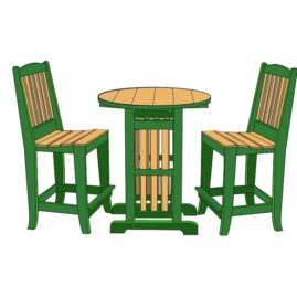 Chairs - #CH011   Tables - Reg. Ht. RT0033, Counter RCT0033 - RBT0033