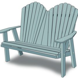 Outdoor Poly Lumber Loveseat