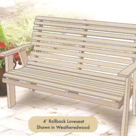 4' ROLLBACK LOVESEAT #CH015