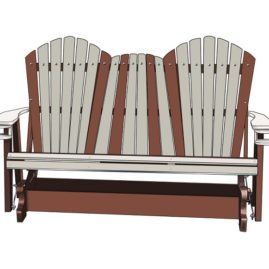 Poly Lumber Glider - Outdoor Furniture NC